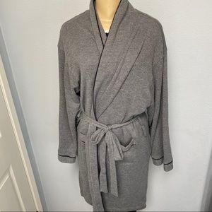 cosabella grey belted robe with pockets L